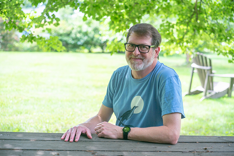 Poet Dan Albergotti Enjoys Productive Solitude of Clampitt Residency