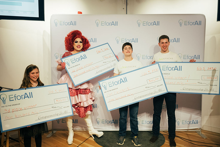 Entrepreneurs share their pitches at EforAll contest